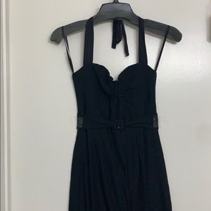 Stop Staring Black halter dress NWOT